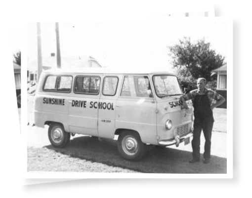 Old picture of Sunshine Bus