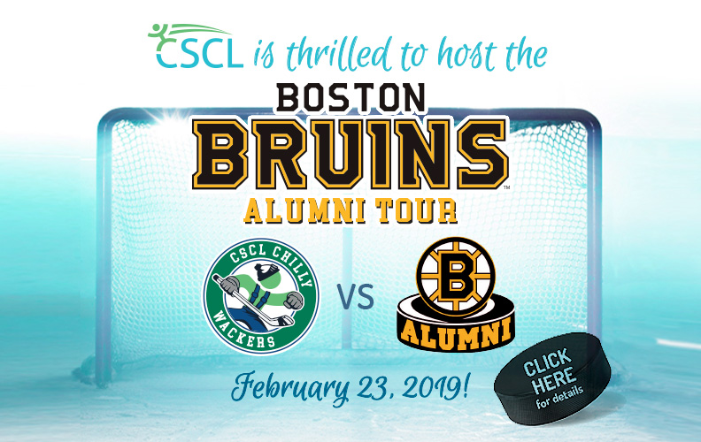 CSCL will host Boston Bruins Alumni Tour