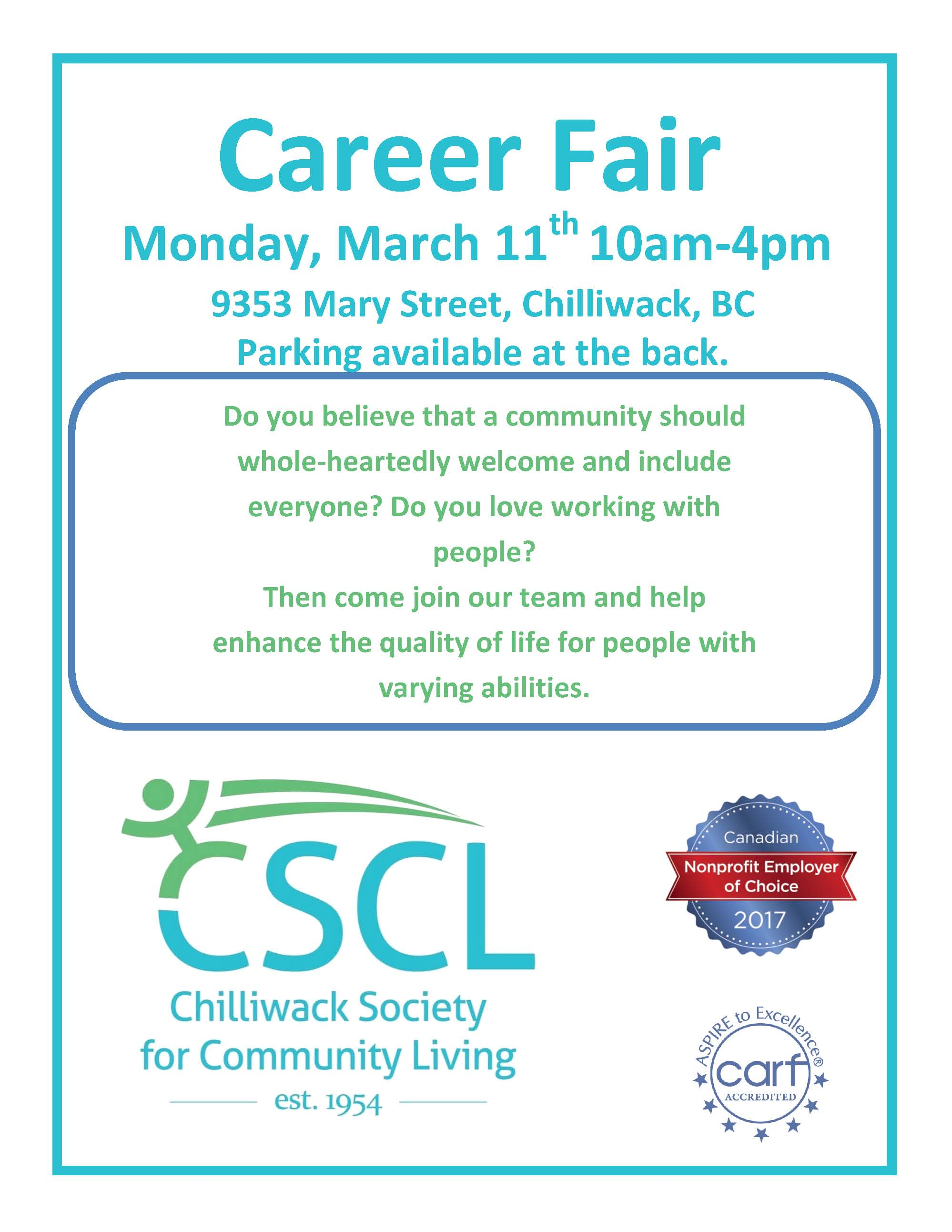 CSCL Recruitment Fair 2019 Flyer V3